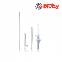 "Nuby ""Flip-It"" Straw Bottle Replacement Set"