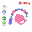 Nuby 1Pk Silicone Beaded Pacifinder with Teether (Cupcake)