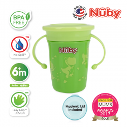 Nuby 360 Wonder Cup 240ml/8oz (Green Dinosaur)