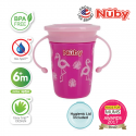 Nuby 360 Wonder Cup 240ml/8oz (Pink Flamingo)
