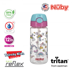 Nuby Tritan Flip-It Active Cup (18oz/532ml) - Unicorn