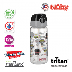 Nuby Tritan Flip-It Active Cup (18oz/532ml) - Robots