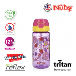 Nuby Tritan Flip-It Active Cup (18oz/532ml) - Ice Cream