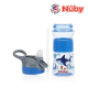 Nuby Soft Spout Sports Bottle with Push Button 360ml (Blue Shark)