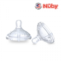 Nuby Comfort Silicone Bottle Replacement Nipple Slow Flow (2pcs)