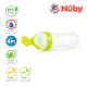 """Nuby """"Garden Fresh"""" Silicone Squeeze Feeder with 2 Spoons, 1 Slow Flow and 1 Fast Flow with PP Covers - Green"""