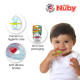 Nuby Chewbies Silicone Teether with Case (1pc) - Aqua Yellow