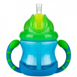 Nuby 1 Pk 8oz/240ml Grip N' Flip with Weighted Straw *Replacement Straw/Kits NBXXFFSS,NB92070,NB92103