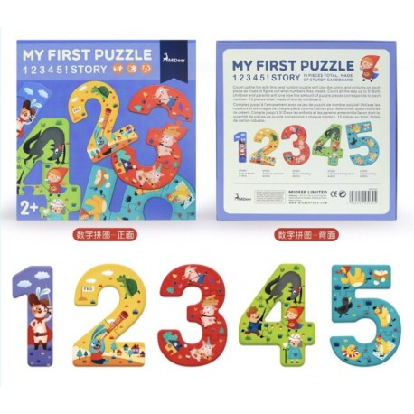 MiDeer Number 1 2 3 Early 1st Puzzle