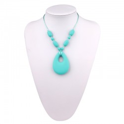 Baby Moo Teething Necklace (Turquoise)