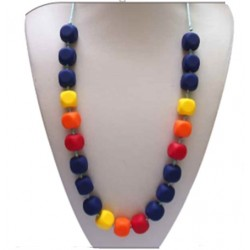 Baby Moo Teething Necklace (Navy)