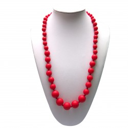Baby Moo Teething Necklace (Scarlet)