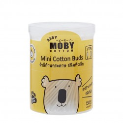 Baby Moby Mini Cotton Buds with Paper Sticks (150 sticks)
