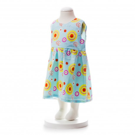 BABY STYLE ASIA BABY GIRLS SUMMER STYLE RIBBON PATTERN PRINTED DRESS