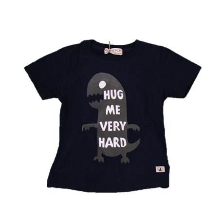 BABY STYLE ASIA Baby Boys Dino Hug Blue T-Shirt (Free Shorts) Flynn Collection