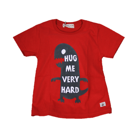 BABY STYLE ASIA Baby Boys Dino Hug Red T-Shirt (Free Shorts) Flynn Collection