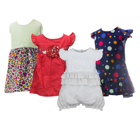 BABY GIRLS SUMMER STYLE COLORFUL POLKA DOT DRESS