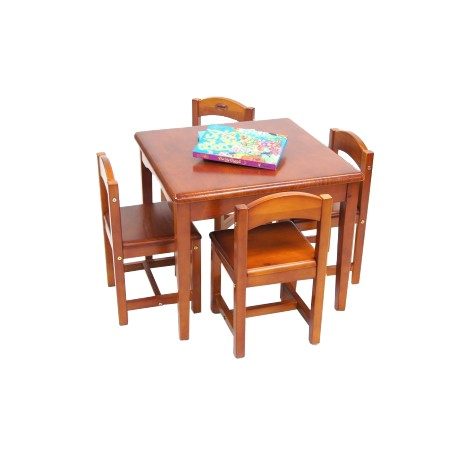 Babyhood Playing Table and Chairs (New Cedar)