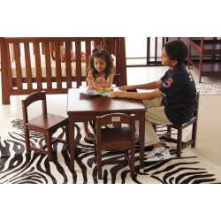 Babyhood Playing Table and Chairs (Chocolate)