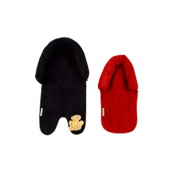 Babyhood 2 in 1 Head Support (Navy & Red)
