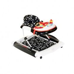 Babyhood Diddlee Doo 2 in 1 Walker Rocker (Black)