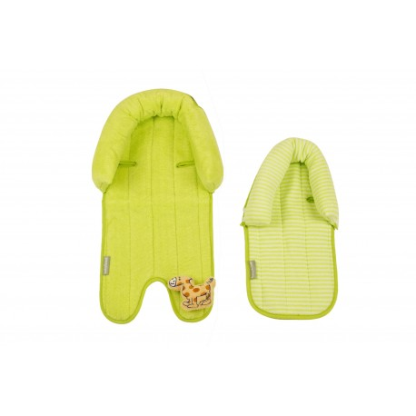 Babyhood 2 in 1 Head Support (Lime & White)