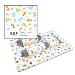Babylove Premium 4 in 1 Foam Mattress Set + Pillow and Bolsters (Sang Kancil and Friends)