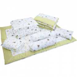 Babylove 7 in 1 Bedding Set (Roller Bear Green)