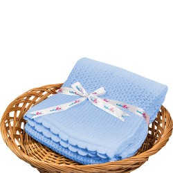 Babylove 100% Cotton Heritage Knitted Blanket 100cm x 100cm