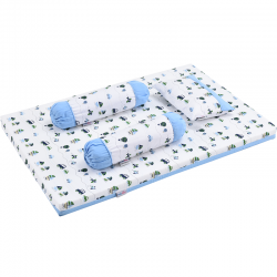 Babylove 4 in 1 Foam Mattress Set + Pillow  and  Bolsters