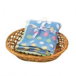 Babylove 100% Cotton Precious Knitted Dot Blanket 100cm x 80cm