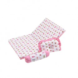 Babylove Premium 3 in 1 Foam Mattress Set + 100% Cotton  Pillow  and  Bolsters (Yummy Cupcake)