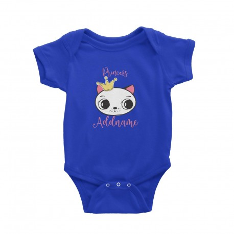 Babywears.my Cat Princess Addname with Tiara T-Shirt Personalizable Designs Pinky