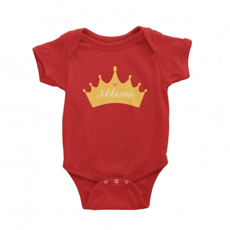 Babywears.my Princess Addname in Tiara T-Shirt  Personalizable Designs