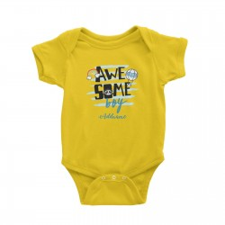 Babywears.my Awesome Boy with Panda Elements Addname T-Shirt Personalizable Designs For Boys
