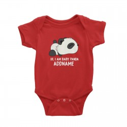Babywears.my Hi I Am Sleeping Baby Panda with Addname T-Shirt  Animal Newborn Personalizable Designs