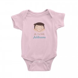 Babywears.my Cute Boy with Big Smile Hi I Am Little Addname T-Shirt Personalizable Designs For Boys