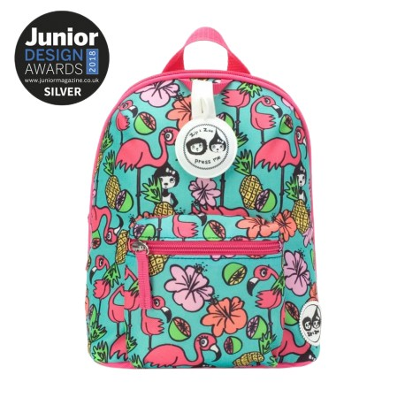 Babymel Mini Backpack & Safety Harness / Reins Age 1-4 Years (Flamingo)