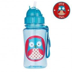 Skip Hop Zoo Straw Bottle Owl 12oz/350ml