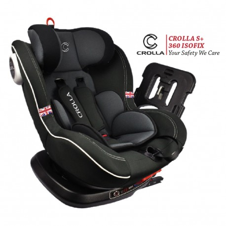 Crolla S + 360 Spin Isofix Car Seat Two Tone Black