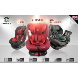 Crolla S + 360 Spin Isofix Car Seat Sport Red