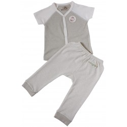 Bebeganic Baby Short Sleeve Body Suit Set 2