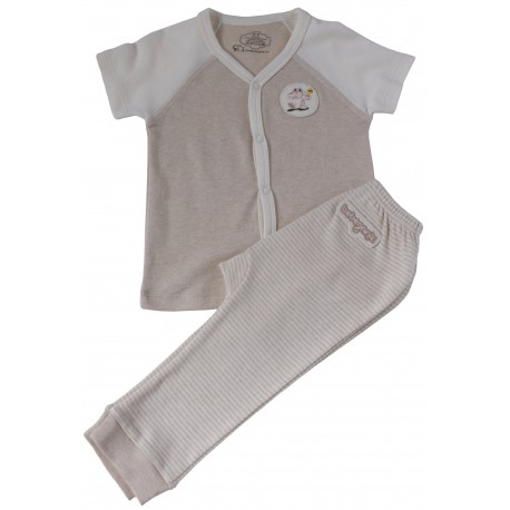 Bebeganic Baby Short Sleeve Body Suit Set 1