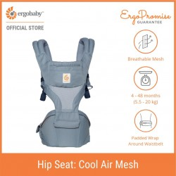 Ergobaby Hip Seat Six Position Baby Carriers (Hippo Blue)