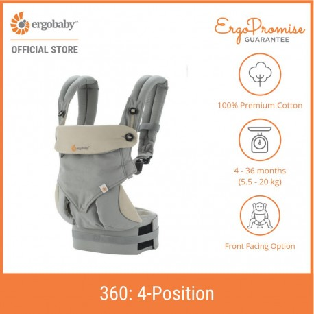 Ergobaby 360 All Positions Baby Carrier (Grey)