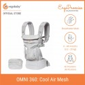 [Exclusive Design] Ergobaby Omni 360 Cool Air Mesh All-in-One Newborn Baby Carrier (Grey Pink Dots)