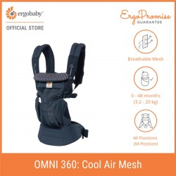 [Exclusive Design] Ergobaby Omni 360 Cool Air Mesh All-in-One Newborn Baby Carrier (Pink Stripes)