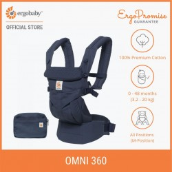 Ergobaby Omni 360 Baby Carrier All-in-One (Navy Mini Dots)