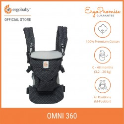 Ergobaby Omni 360 Baby Carrier All-in-One (Geo Black)