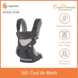 Ergobaby 360 All Positions Baby Carrier - Cool Air Mesh (Carbon Grey)